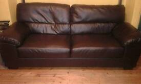 3 seat leather couch excellent condition
