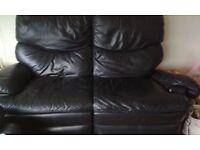 Amazong value black recliner sofa