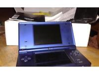 Nintendo DSi console, boxed with one game, charger,stylus and instructions