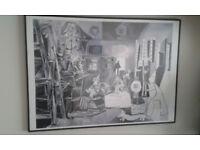 Picasso print Las Meninas, 1957, Cannes.