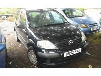 2002 Citroen C3 1.4 LX 5dr black EXY EXYB BREAKING FOR SPARES
