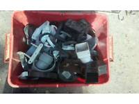 Large box of guttering fittings