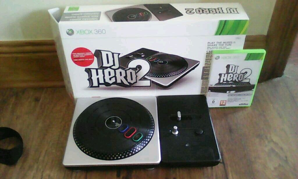 Dj hero 2 turntablegame xbox 360in Great Yarmouth, NorfolkGumtree - DJ hero 2 turntable & game, in good condition
