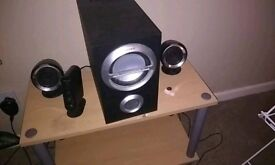 Sony 2.1 speakers with Bluetooth adapter