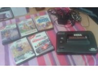Sega master system with 5 boxed games alax the kid built in unwanted gift al working order