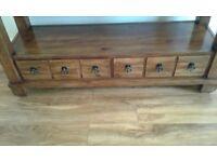 Display table. Solid wood