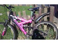 Magna Mountain Bike - Duel Suspension - 15 Gears - Power Climber