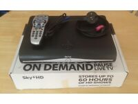 Boxed SKY HD Box with integrated wifi with remote control, power & HDMI lead