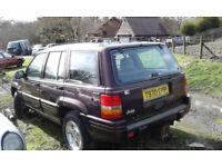 Grand Jeep Cherokee 4.0i 4X4 Limited Auto Leather Sun Roof LPG Green Certificate Spares or Repair