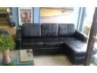 NEW LEATHER CORNER SOFA CAN DELIVER FREE BARGAIN