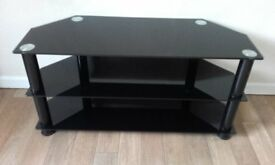Three Tier Black Glass TV Stand ( Suitable for up to 42 inch LCD )