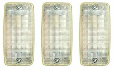 3 x Ansell A100GC Bulkhead Light Fittings with Glass Diffuser E27 - 100 Watt