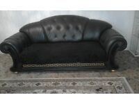 Versace settee 3 and 2 real leather £1200 ono