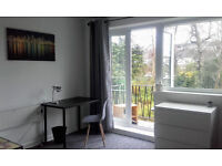 GUILDFORD CENTRE LARGE BEDSIT WITH PRIVATE BALCONY& PARKING PERMIT