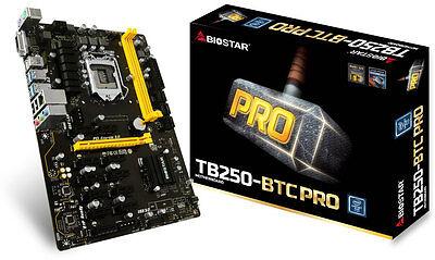 BIOSTAR TB250-BTC PRO LGA 1151 12 GPU SUPPORT ETH ZEC 3 YEAR WARRANTY
