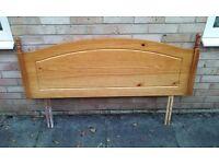 Double bed pine headboard