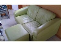 Sofa and matching footstool