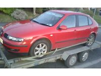 seat leon toledo golf bora breaking parts ...1.4 16v 1.6 8v & 1.6 16v cookstown