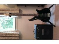 Yamaha Bass guitar and Fender Amp