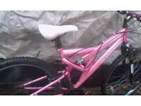 Lady's pink mountain bike