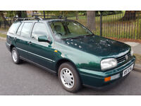 Well-maintained 1998 VW Golf GL Estate 1.9 TDI green with 5 gear manual transmission