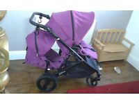 Britax B-Dual tandem pram, comes with car seat, excellent condition, from birth to 15kg