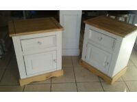 SOLID WOOD BED SIDE CABINETS