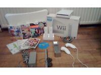Nintendo wii bundle wii fit & 8 GAMES £50 OVNO