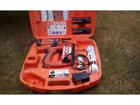 Paslode 2nd fix nail gun, good working order in case with charger and batteries, recently serviced