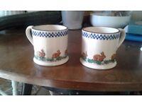 Brixton pottery animal mugs