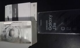 Samsung J3 (6) Unlocked smartphone, As new condition/never used, Original packaging