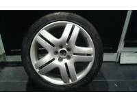 17 Vw alloy wheel with brand new tyre