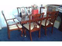 Heavy Mahogany Dining Room Table and Chairs