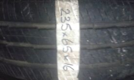 235/65/16c quality part worn sprinter and new transit tyres