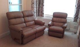LA-Z-BOY two seater sofa + arm chair