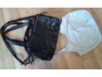 2 handbags-black & grey