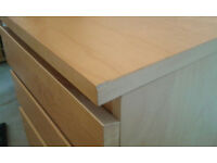 Ikea Malm 6 drawer dresser- with 'flip up' mirror