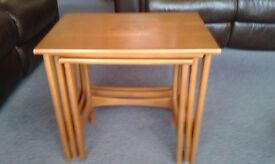 Wooden Nest of Tables, some slight marks & scratches, general good condition