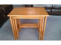 Wooden Nest of Tables, some marks & scratches, general good condition