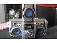 **bargin**Panasonic 5cd changer stereo with basebox/subwoofer