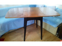 table, mahogany, folding tops, genuine vintage,