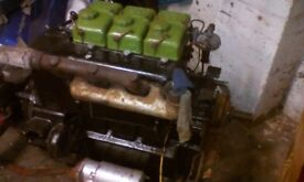 3 cyl lister engine and gearbox out of boat runs great cyl heads overhauled
