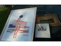 car boot sale job lot jack vettriano print antique oil painting chinese brass etc job lot
