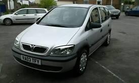 2003/03 Vauxhall Zafira 1.8 club mpv 7 seater