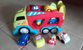 Chad Valley car transporter with 8 vehicles & toddlers jigsaw