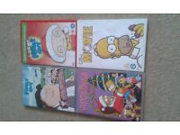 dvd bundle ,the simpsons, family guy