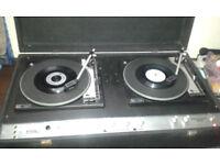 Powered Fal Discotheque MK2 1970's DJ twin decks