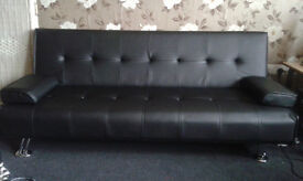 Sofa bed black like new