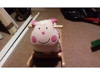 Sit on rocking sheep