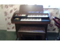 Hammond electric organ and stool
